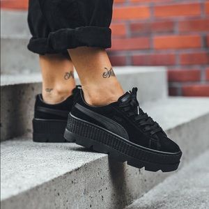 sneakers for cheap c580f 09273 FENTY PUMA Suede Cleated Creeper Women's Black